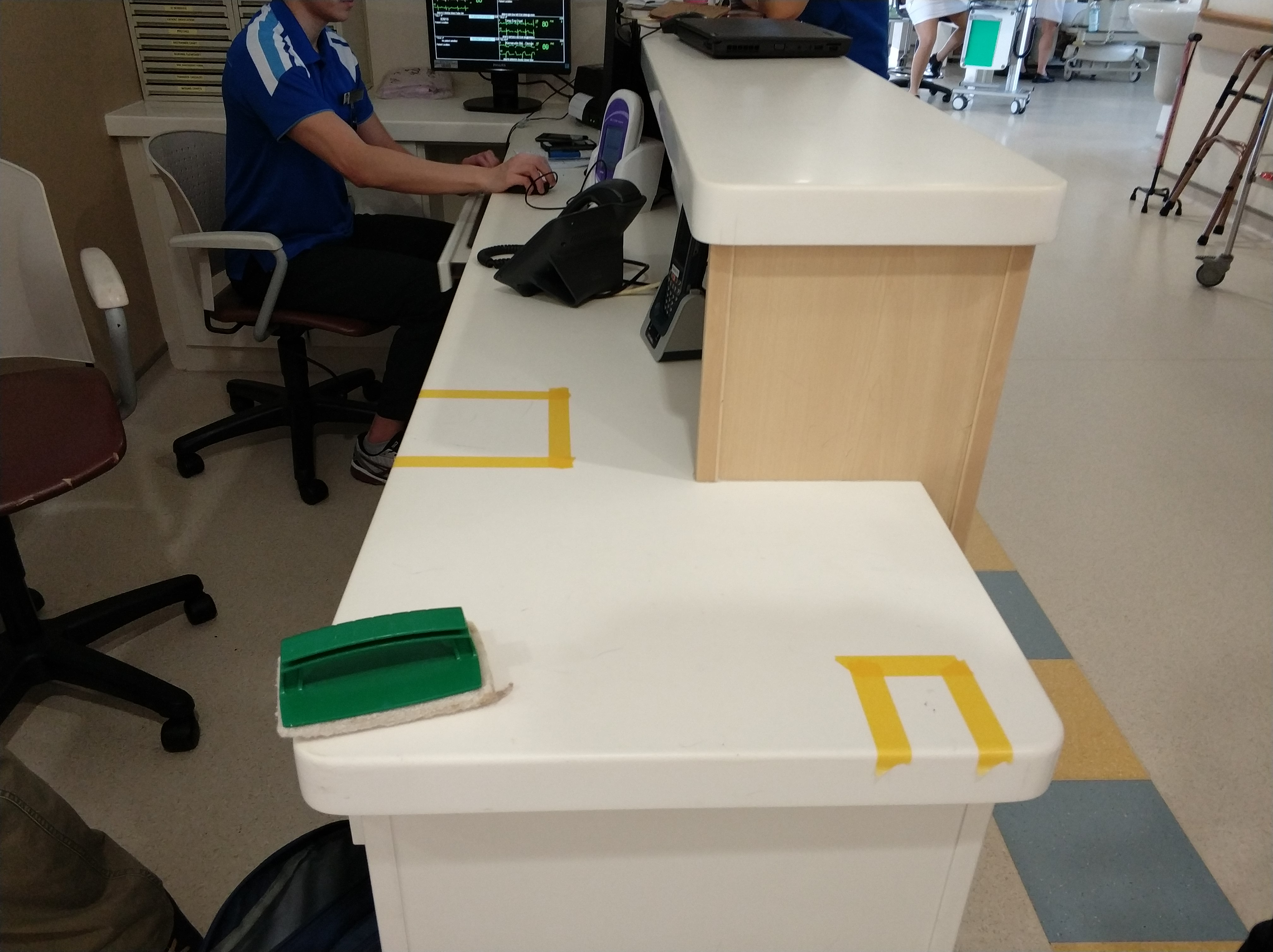 weFix SG project at Khoo Teck Puat Hospital cleaning hard to remove stain Nurse Station